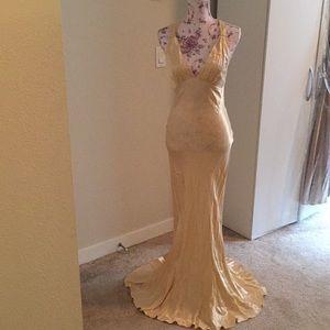 Beautiful light gold mermaid gown